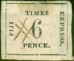Fiji 1870 6d Black Rose Sg3 Thin Quadrille Paper A Fine Used Example Of This ...