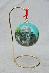 The First Church of Christ Scientist Boston Ornament Reverse Painted Glass Ball