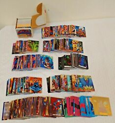 10 Diff Complete Card Set Lot Marvel 90s Spiderman Ultra Masterpieces Impel Xmen