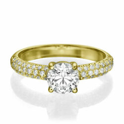 1 1/4 Ct Solitaire Diamond Engagement Ring Round Cut D/vs1 18k Yellow Gold