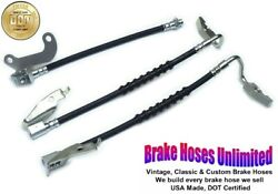 Brake Hose Set Mercury Marquis 1969 Late After 4-1-1969 Front Drum