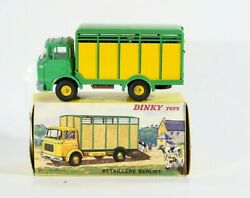 Dinky Toys F N° 577 Truck Cattle Trailer Gak Berliet Shallow Outlet In Box