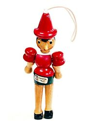 Pinocchio Marionette Wooden Doll Figurine Jointed Moveable Ornament Toy Italy