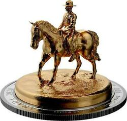 Canada - 2020 'rcmp Musical Ride' Gold-plated Sculpture 10 Oz 100 Pure Silver
