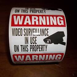 Lot Camera Window Warning Stickers Signs For Home Waterproof Surveillance Decals