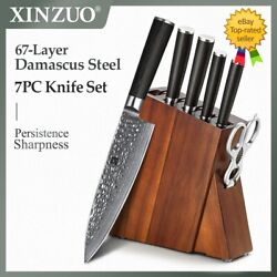 Kitchen Knife Set Damascus Steel Meat Cleaver Chef Fruit Paring Knife With Excel
