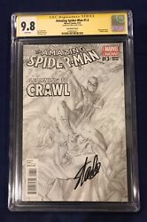 Amazing Spider-man 1.3 Ross Sketch Cover 1200 Cgc 9.8 Signed- Stan Lee 11/4/18