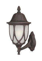 Autumn Gold And Satin Crackled Glass Exterior Light Orig $150 $29.99