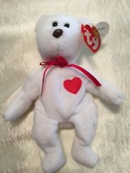 Rare 1994 Valentino Beanie Baby Bear / Brown Nose / Style 4058 / Pvc Pellets