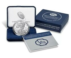 End Of World War 2 75th Anniversary American Eagle Silver Proof Coin Us Mint