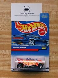 Hot Wheels Turbo Flame 1996 First Edition White Paint Job
