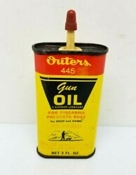 Outers Gun Oil 445 3oz Polarized Tin Can Hunting Fishing Can Empty