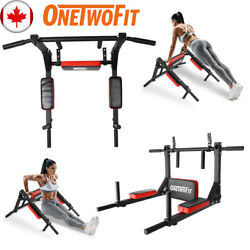 Wall Mounted Pull Up Bar Dip Station Exercise Fitness Core Equipment Home Ot126