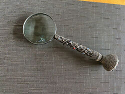 Antique American Sterling Silver Connoisseur's Magnifying Glass Circa 1900