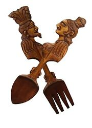 2and039 Wooden Hand Carved Spoon And Fork Wall Hang Carving Home Dining Dandeacutecor Sri Lanka