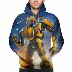 Transformers Bumblebee Optimus Prime Print Men Pullover Hoodies Outwear Jackets