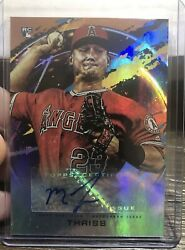 🔥2020 Topps Fire Mike Thaiss Auto Rookie Card Rc Orange 66/99 Angels Fa-mth🔥