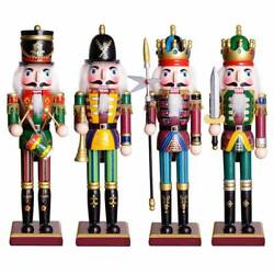 30cm Large Painted Christmas Holiday Guard Nutcracker Soldier Wooden Us