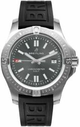 Breitling Colt 41 Automatic A17313101f1s1 Grey Dial On Black Strap Men's Watch