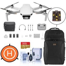 Dji Mini 2 Drone Fly More Combo With 128gb Card, Backpack, Strobe, Landing Pad