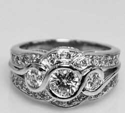 14k / 585 Yellow Gold Diamond Ring D1-0.60cts D26-0.50cts D2-0.30cts 8.37gram