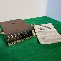 Kraco Ks-400d 8-track Car Stereo Tape Player With Owners Manual Untested