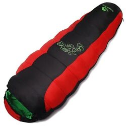 Mummy Sleeping Bag -5anddegc15anddeg Compact Travel Camping W/ Carrying Case Cold Weather