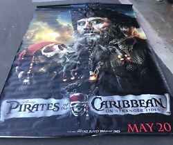 """Huge Pirates Of The Caribbean 70""""x105"""" Vinyl Movie Poster Theatre Banner 2011"""