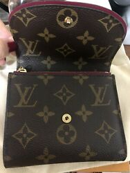 Louis Vuitton PF.Ariane Mng Fuchsia Wallet.red Color $520.00