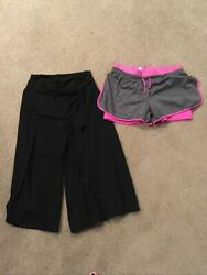 Youth Large Girls Flowy Pants And Athletic Shorts Lot Of 2 $6.00