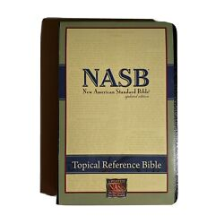 Nasb Topical Reference Bible, Bl, Black By Lockman Foundation Good Condition