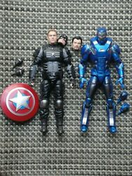 Marvel Legends Stealth Captain America amp; Iron Man action figure lot Joe Fixit