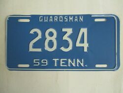 1959 Tennessee Guardsman  License Plate Tag