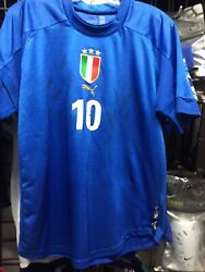 Italy Blue Signed Soccer Classic Jersey 2004 Size M Mens Only