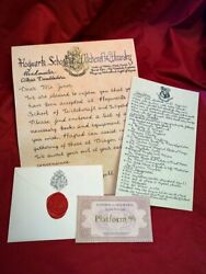 Hogwarts Acceptance Letter - Handwritten And Personalized - Harry Potter