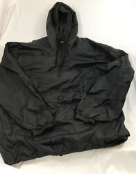 Totes Men's Packable Windbreaker Large Black Packs Into A Fanny Pack 8.5 Oz $21.20