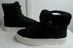 NEW UGG Suede Sneakers BEVEN Black Women#x27;s Size 6 $74.99