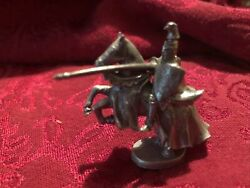 Vtg Pewter Knight On Horse Figurine 1 3 4quot; Tall $4.25