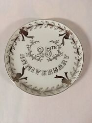 Lefton China 25th Anniversary Collectors Plate Silver Anniversary Made In Japan
