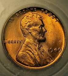 1949 P Lincoln Wheat Cent Penny Coin Icg Ms67 Rd Rare