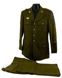 1941-1945 Wwii Uniform Dress Possley R. Jacket And Trousers