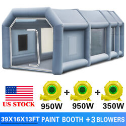 39x16x13ft Inflatable Spray Booth Paint Tent Mobile Giant Car Workstation