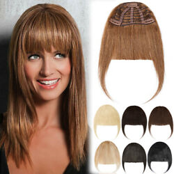 Thick Clip In/on Bangs Fringe 100 Remy Human Hair Extensions Front Hair Piece T