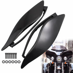 Left+right Smoke Fairing Side Wind Air Deflector For Harley Touring Fl 2014-2020
