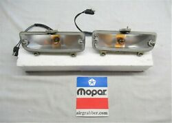 1971 Dodge Charger Super Bee Se Restored Front Turn Signal Housings W/o Lenses