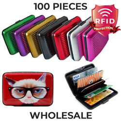 Aluminum Wallet Business Id Credit Card Case Holder Anti Rfid Scanning Wholesale