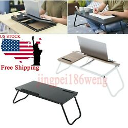 Foldable Laptop Table Tray Desk Tablet Desk Stand Bed Sofa Couch Breakfast Tray