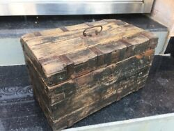 Antique Old Wooden Hand Crafted Indian Merchant Money Collection Box Storage Box