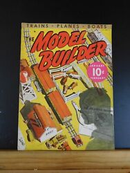 Model Builder 1937 January / February Lionel Magazine Wreck Yacht Club Indian Vi
