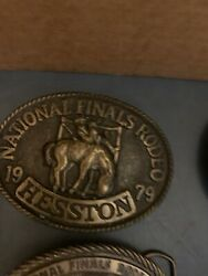 11 Hesston National Finals Rodeo Belt Buckles - From 1979 To 1989 5 Used And 6 New